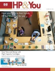 From your desk to their hands, HP has a solution for ... - Azerty.com