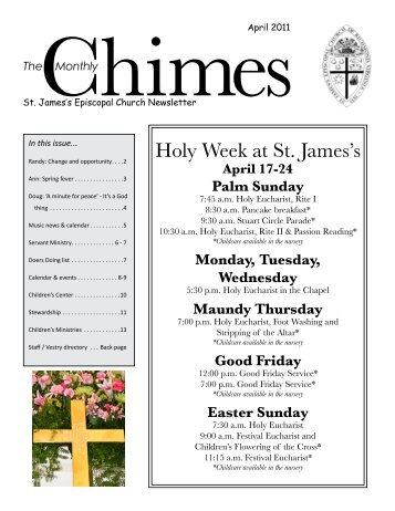 Holy Week at St. James's - St. James's Episcopal Church
