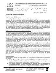 Elternbrief Nr. 2 0910 dt - DSB | Kairo