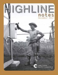 December issue of Highline Notes - Cass County Electric Cooperative