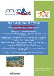 Mise à jour Règlementaires - Extranet FFVB - Fédération Française ...