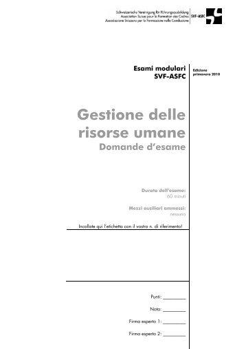 Gestione delle risorse umane / PDF