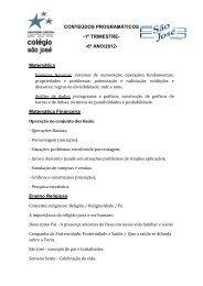 6º ANO/2012 - Colégio São José