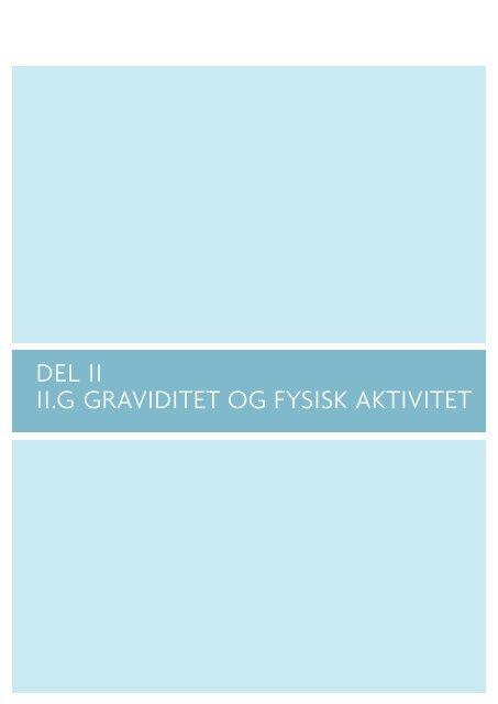 DEL II II.G GRAVIDITET OG FYSISK AKTIVITET