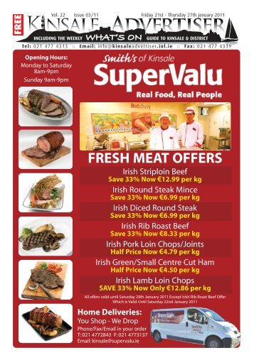 FRESH MEAT OFFERS - Kinsale and District Newsletter