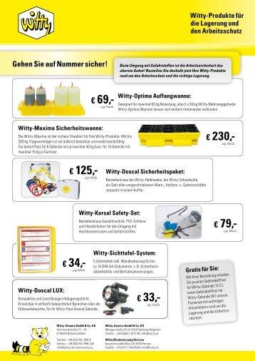 Jetzt Produkte für den Arbeitsschutz bestellen - Witty Chemie GmbH ...