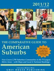 The Comparative Guide to American Suburbs - Grey House Publishing