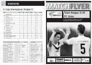 Team Aargau U-21 FC Uster MATCHFLYER - FC Aarau