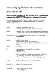 Vorankündigung Workshop: bitte vormerken! - Rheinfelden Schulen