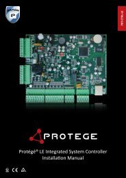 Protégé LE Integrated System Controller Installation Manual
