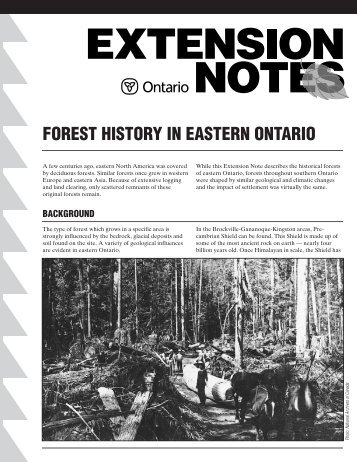 forest history in eastern ontario - LandOwner Resource Centre