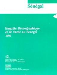 Sénégal Front Matter - ANSD