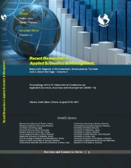 RECENT RESEARCHES in APPLIED ECONOMICS and ... - Wseas