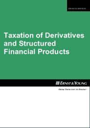 Taxation of Derivatives and Structured Financial Products