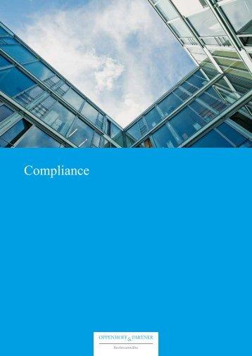 Broschüre Compliance - Oppenhoff & Partner
