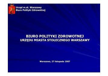 Warszawska Polityka Zdrowotna - Warszawa