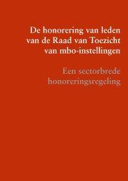 De honorering van leden van de Raad van Toezicht van mbo ...