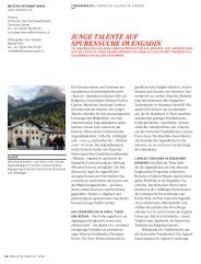 junge talente auf spurensuche im engadin - Stiftung Mercator Schweiz