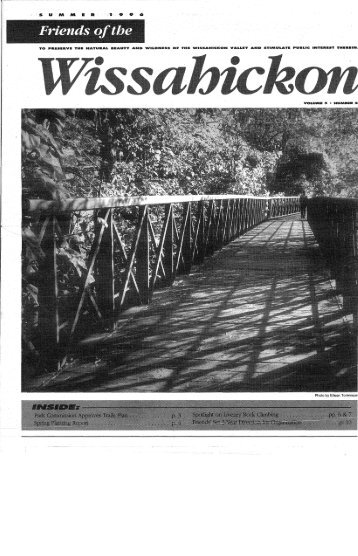 Summer 1996 Newsletter - Friends of the Wissahickon