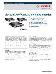 VideoJet X10/X20/X40 SN Video Encoder - Zone Technology