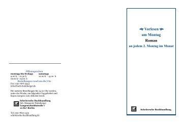 Federigo Tozzi Broschüre - Schröersche Buchhandlung