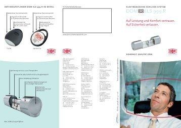 DOM ELS 999 R Flyer.pdf - Schlüsseldienst am Zoo NIG GmbH