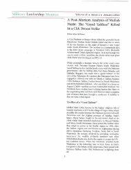 Post-Mortem Analysis of Mullah Nazir - Brian Glyn Williams