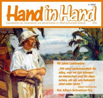 Hand in Hand 02/2003 - Albert-Schweitzer-Verband