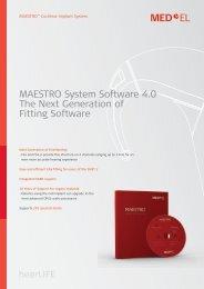 MAESTRO System Software 4.0 The Next Generation of ... - Med-El
