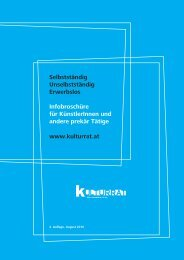 Infobroschüre als PDF - Kulturrat Österreich