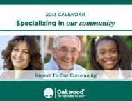Specializing in our community - Oakwood Healthcare System