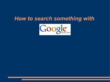 How to search something with - blog.de