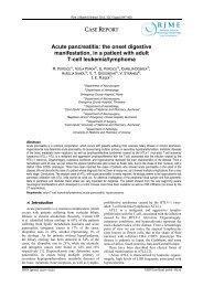 Acute pancreatitis: the onset digestive manifestation, in a ... - Rjme.ro