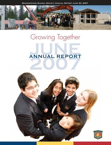 Annual Report 2007 - Meadowridge School