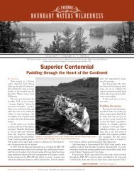 Fall 2009 - Friends of the Boundary Waters Wilderness