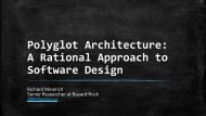 Polyglot Architecture: A Rational Approach to ... - QCon New York
