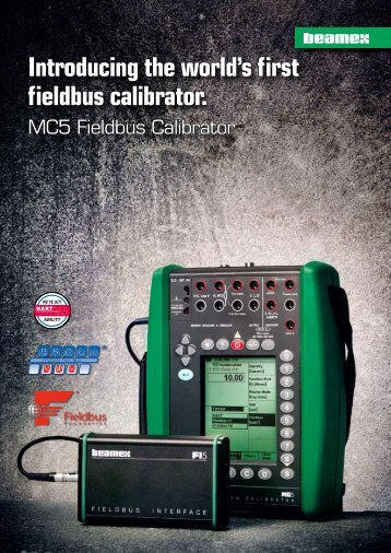 Introducing the world's first fieldbus calibrator. - INCAL Instrumentos