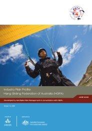 Industry Risk Profile: Hang Gliding Federation of Australia (HGFA)