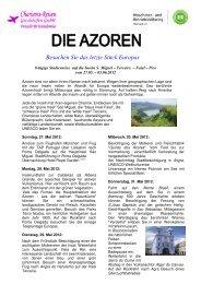 Azoren 2012 - Maschinenring Oberland