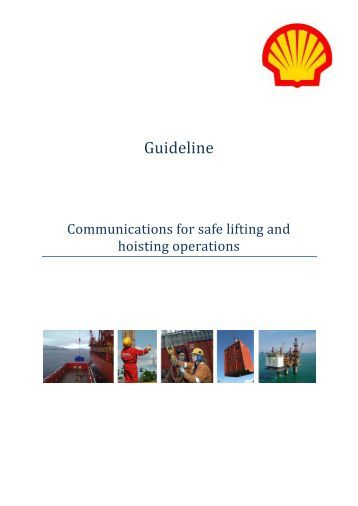 Shell Guideline - Communications for safe lifting & hoisting operations
