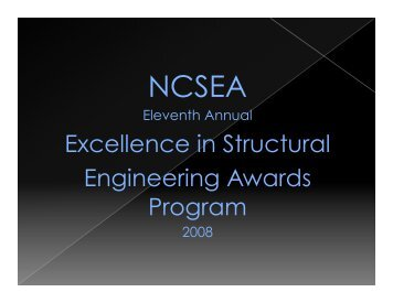 2008 NCSEA Award Winners