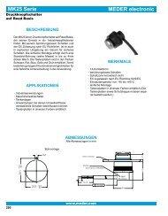 MEDER electronic MK25 Serie
