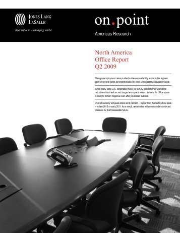2009 North America Office Report - Jones Lang LaSalle