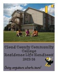 Cloud County Community College Residence Life Handbook 2013-14