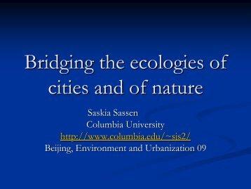 Presentation Saskia Sassen - Institut Veolia Environnement