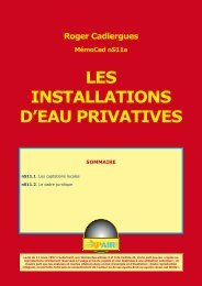 LES INSTALLATIONS D'EAU PRIVATIVES