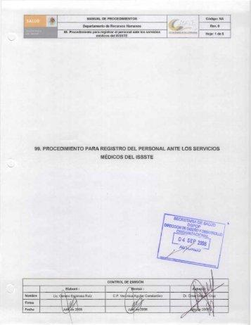 99. Procedimiento para registrar al personal ante los servicios ...