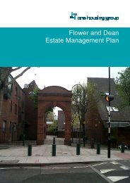 Flower and Dean Estate Management Plan - One Housing Group