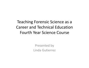 forensic science module five On the biology and forensic science bsc (hons) undergraduate degree at   compulsory modules: a module that you are required to study on this course.