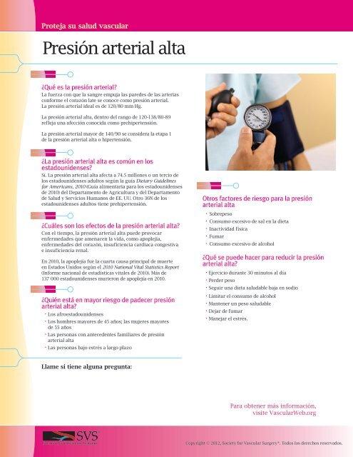 ¿Cuáles son las etapas de la presión arterial alta?